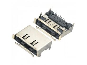 SATA连接器 7PIN E-SATA连接器插板式带壳子