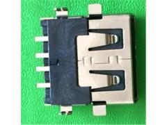 【移动电源专用】USB连接器2.0AF沉板刺破USB短体