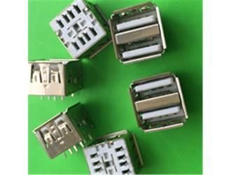 广东USB双层连接器 USB10.5长180度直插现货供应