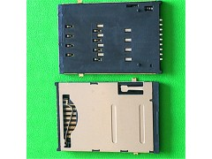 【手机通讯卡座】台湾SIM卡座9脚自弹式 SIM卡座带开关