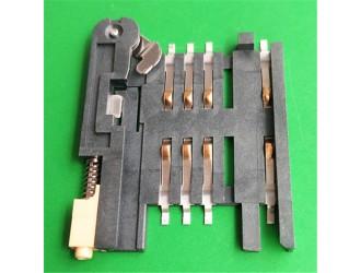 SIM 6PIN卡座带卡套自锁式SIM卡座厂家供应