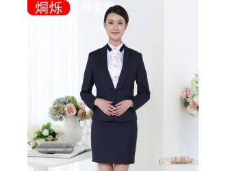 株洲藏青色职业装女装套裙售楼部工作服
