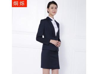 湖南工作服酒店前台套裙正装批发