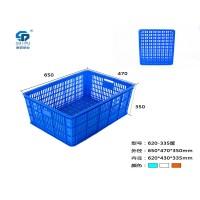 厂家批发加厚塑料蔬菜筐 全新料工业搬运储物快递筐子