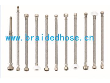 热水器进水编织软管,304不锈钢编织管