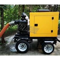 防汛抗旱移动泵车150mm口径