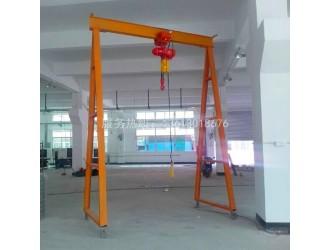 深圳厂家直销1吨手动龙门吊|简易移动龙门架|起重龙门吊架