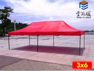 丰雨顺章丘3X6米折叠帐篷批发 摆摊四脚遮阳帐篷定制