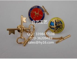 酒店商务成套徽章,员工佩戴徽章,高档金属胸标徽章制作