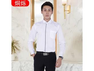 夏季男士长袖衬衫西裤职业套装定制来图来样
