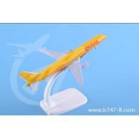 飞机模型波音B757郭豪DHL金属迷你纪念创意礼品航模摆件