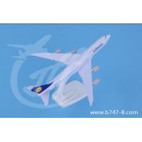 飞机模型波音B747-8汉莎航空金属静态摆件航模20cm