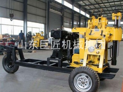 XYX-130可行走轮式液压钻机取样勘探钻机拖挂行走效率高